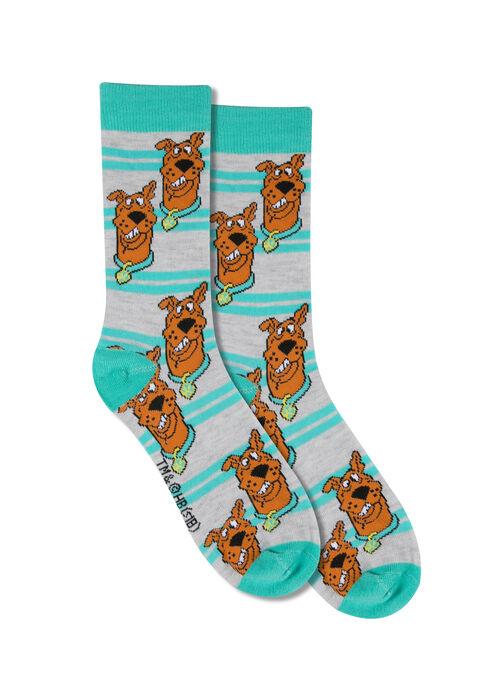 Men's Scooby-Doo Crew Sock, AQUA, hi-res