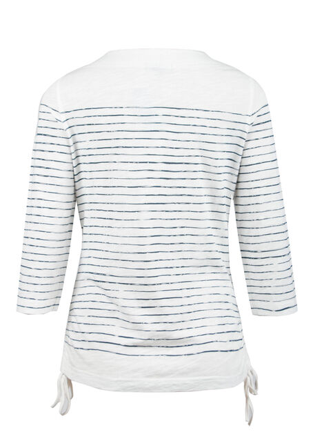 Ladies' Stripe Top, IVORY, hi-res