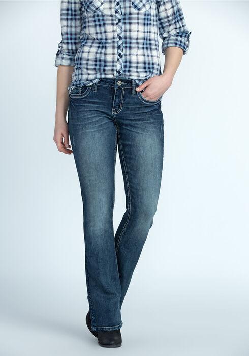 Ladies' Contour Boot Jeans, DARK WASH, hi-res