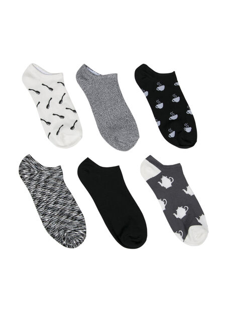 Ladies'  6 Pair Tea Time Socks