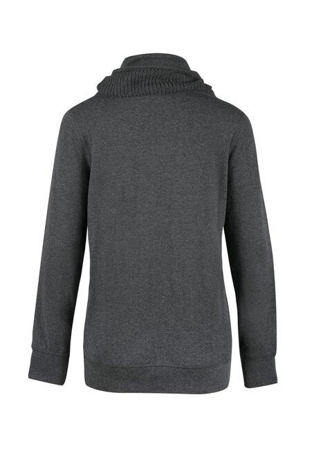 Ladies' Sweater Insert Popover, CHARCOAL, hi-res