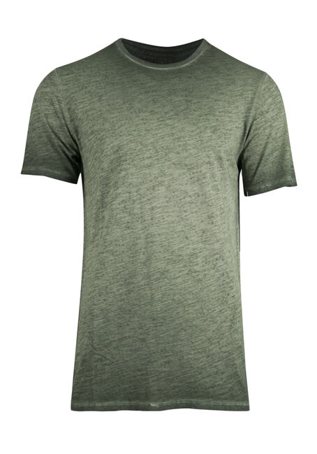 Men's Vintage Crew Neck Tee, DARK OLIVE, hi-res