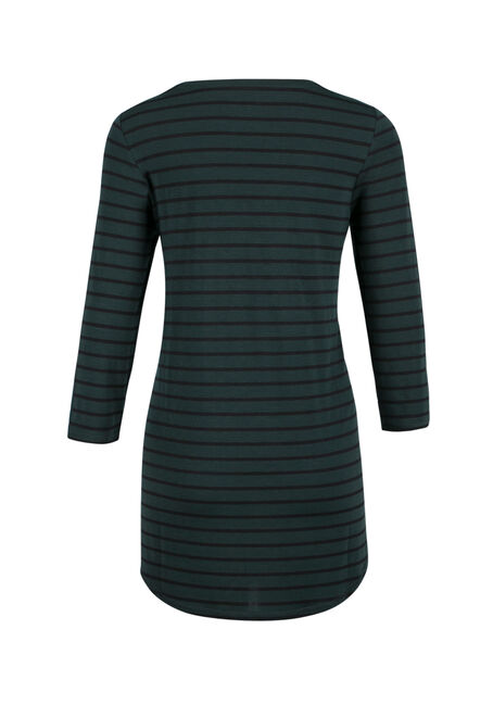 Ladies' Stripe Tunic Tee, JASPER/BLACK, hi-res