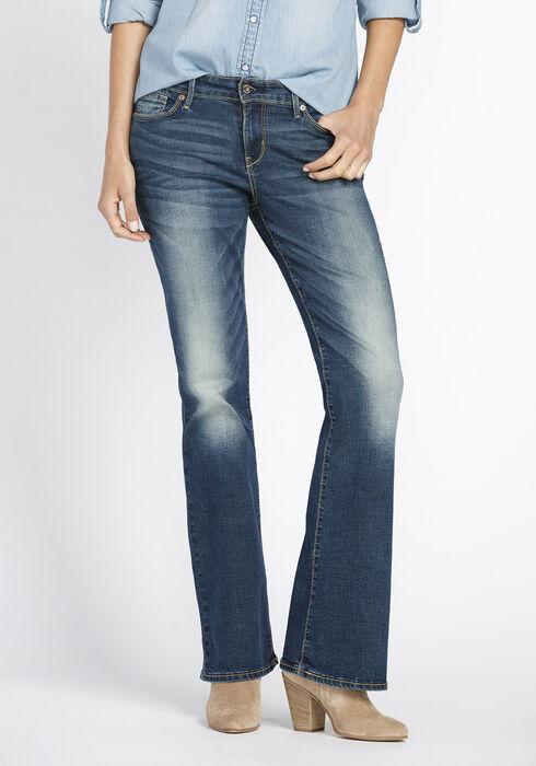 Ladies' Boot Cut Jeans, MEDIUM WASH, hi-res