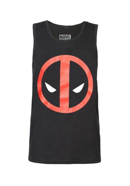 Men's Deadpool Tank, BLACK, hi-res