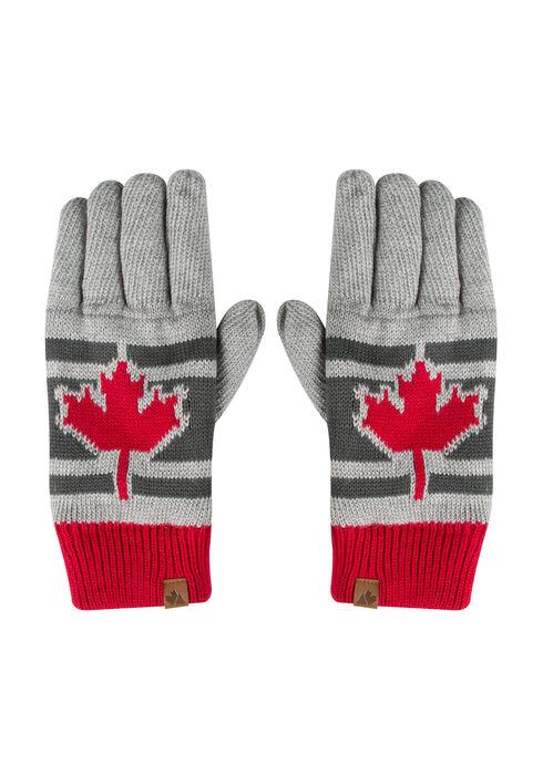 Men's Canada Gloves, GREY, hi-res