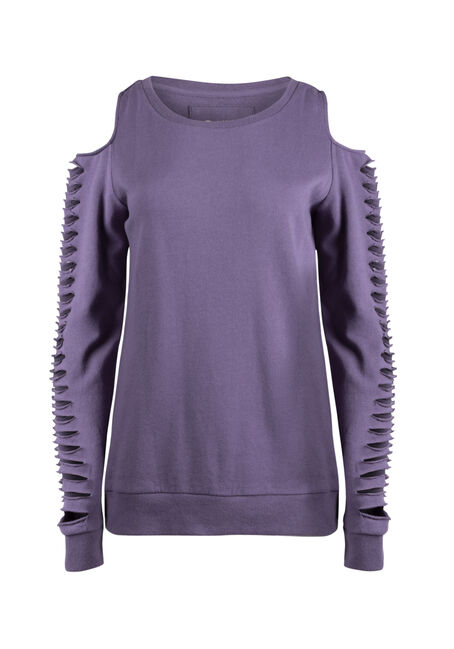 Ladies' Shredded Sleeve Fleece