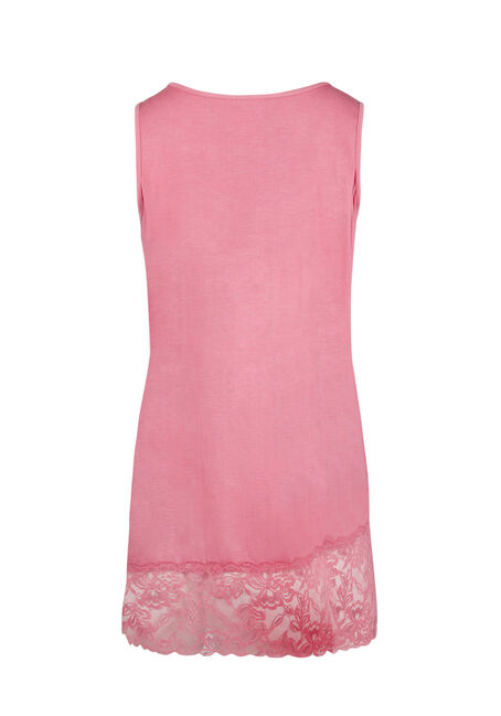Ladies' Cage Neck Lace Tunic Tank, ROSE, hi-res