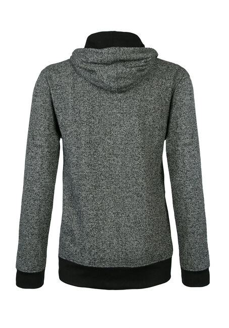 Men's Quilted Colour Blocked Hoodie, CHARCOAL, hi-res