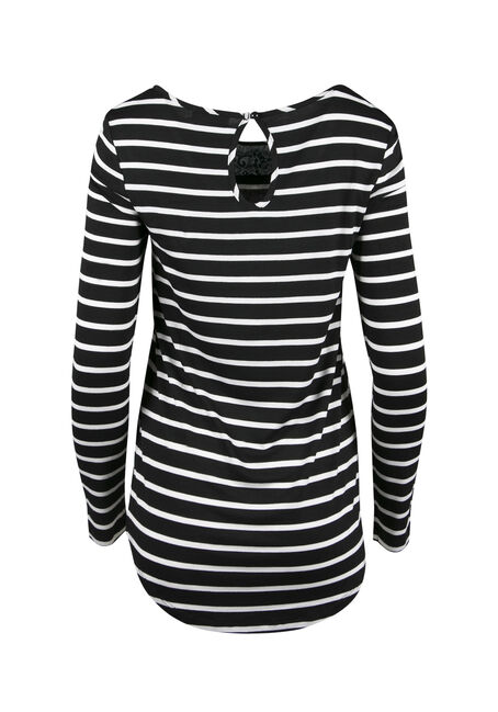 Ladies' Colour Block Stripe Top, JASPER, hi-res