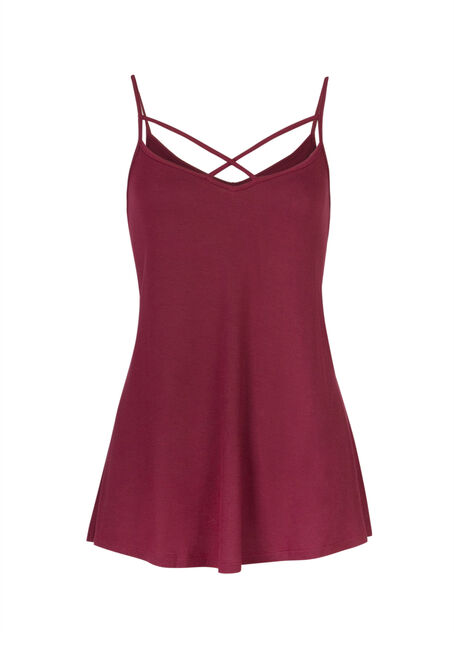 Ladies' Cage Front Strappy Tank, ROSE BUD, hi-res