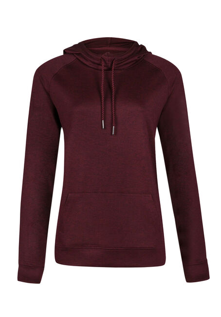 Ladies' Lightweight Hoodie, WINE, hi-res
