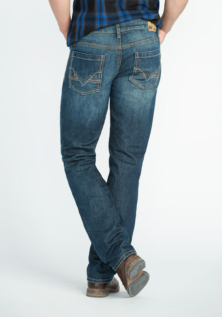 Men's Slim Straight Jeans, DARK VINTAGE WASH, hi-res