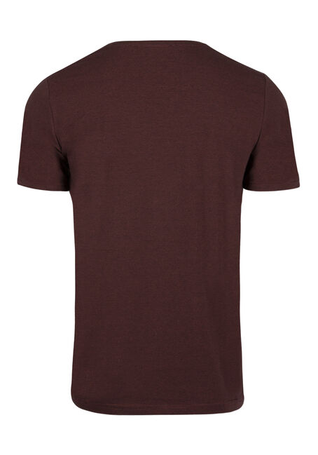 Men's Everyday Mini Stripe V-Neck Tee, BRICK, hi-res