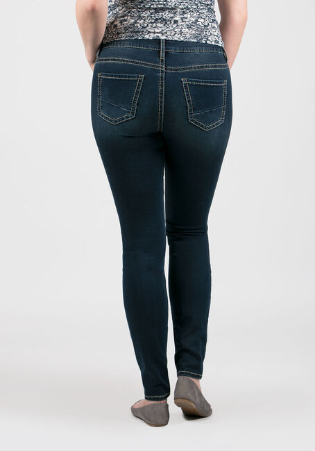 Ladies' Hi-Rise Skinny Jeans, MEDIUM WASH, hi-res
