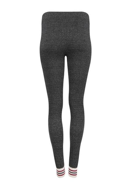 Ladies' Cabin Stripe Legging, CHARCOAL, hi-res