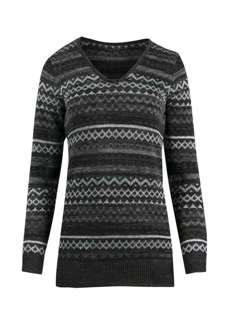 Ladies' Lurex Nordic Sweater