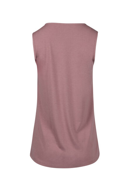 Ladies' Lace Trim Tank, PETAL, hi-res