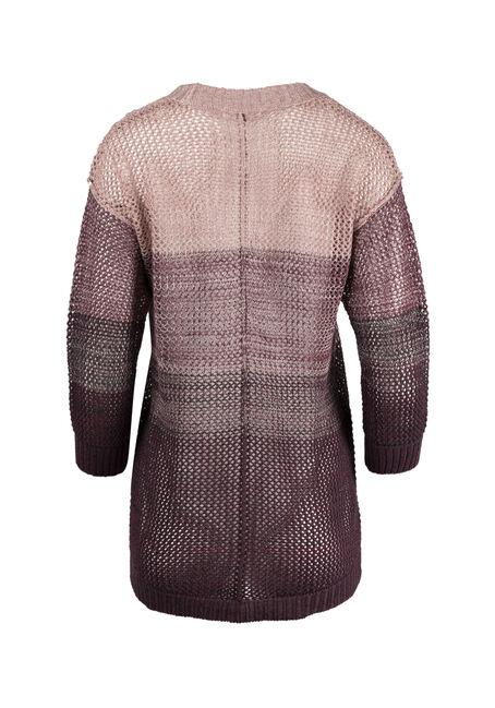Ladies' Ombre Sweater, PINK/PURPLE, hi-res