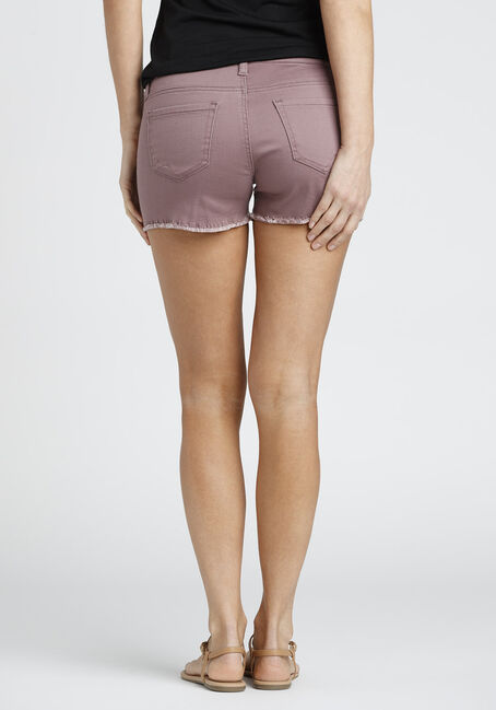 Ladies' Destroyed Not-So-Short Short, MAUVE, hi-res