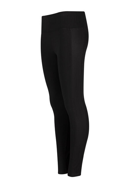 Ladies' Mesh Insert Legging, BLACK, hi-res