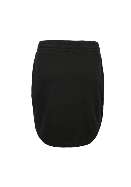Ladies' Drawstring Skirt, BLACK, hi-res