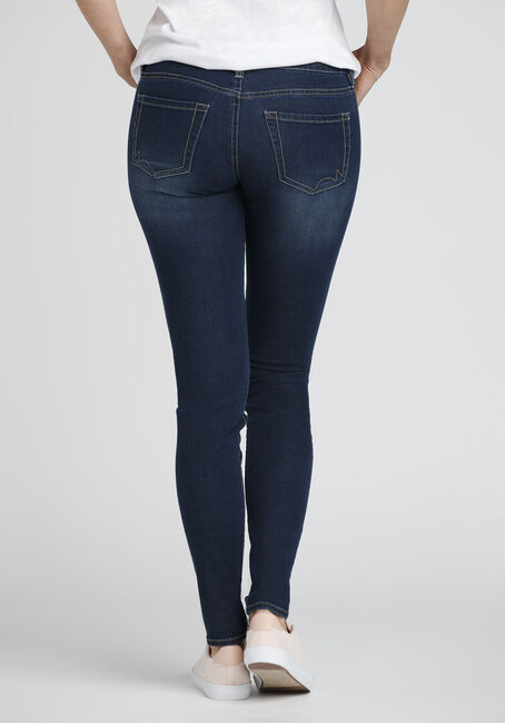 Ladies' Skinny Jeans, MEDIUM WASH, hi-res