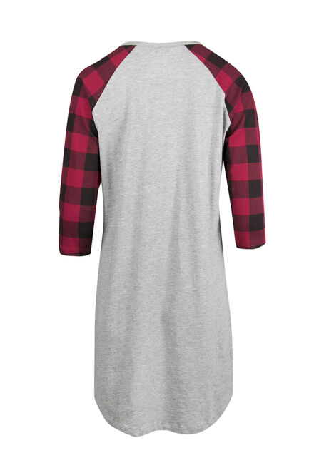 Ladies' Hibernate Sleepshirt, CHARCOAL, hi-res