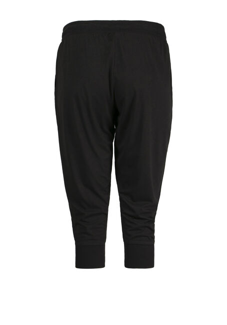 Ladies' Jogger Capri, BLACK, hi-res