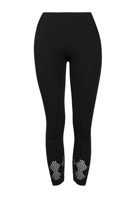 Ladies'  Mesh Bottom Capri Legging