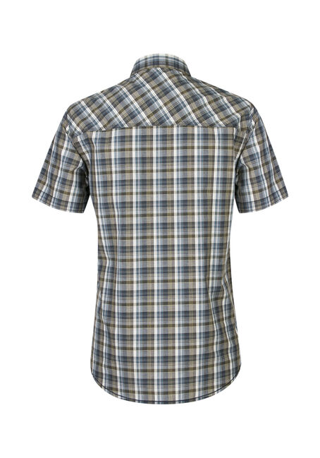 Men's Plaid Shirt, GREEN, hi-res