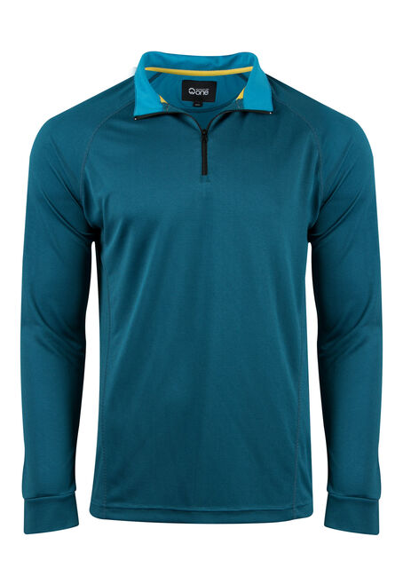 Men's Athletic Mock Neck Top