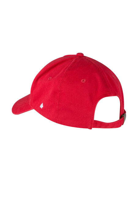 Men's Canada Baseball Hat, RED, hi-res
