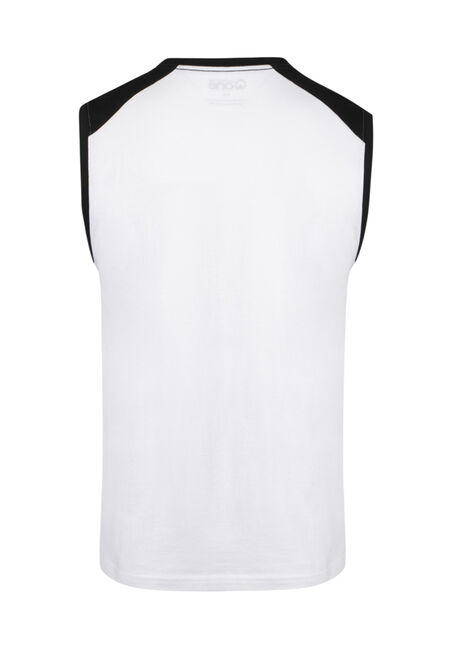 Men's True North Colour Block Tank, WHITE, hi-res