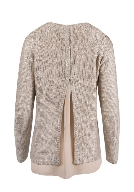 Ladies' Sequin Sweater, GOLD, hi-res