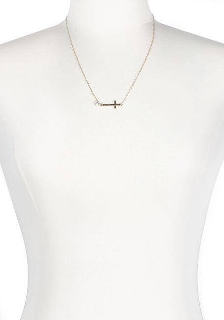 Ladies' Rhinestone Cross Necklace