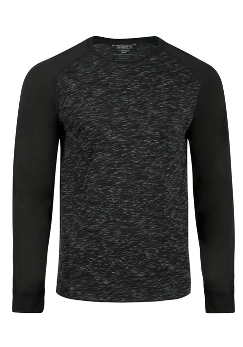Men's Everyday Baseball Tee, Black, hi-res