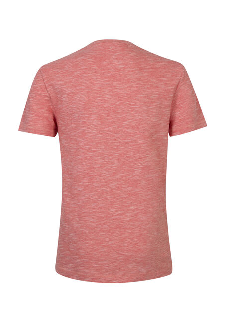 Men's Textured Crew Neck Tee, ORANGE, hi-res