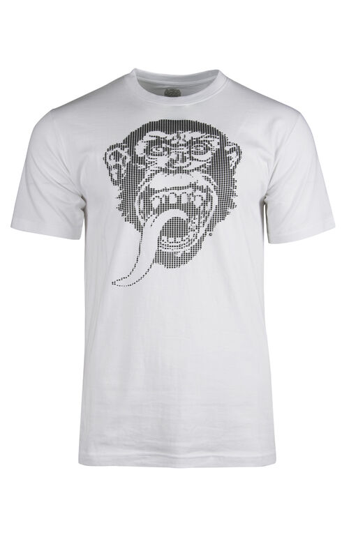 Men's Gas Monkey Textured Print Tee, WHITE, hi-res
