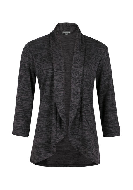 Ladies' Knit Open Blazer, CHARCOAL, hi-res