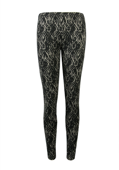 Ladies' Abstract Print Legging, OLIVE, hi-res