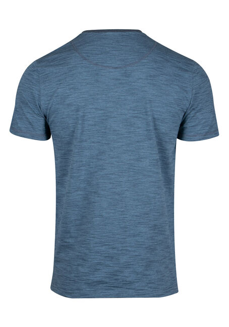 Men's Everyday Henley Tee, BLUE, hi-res