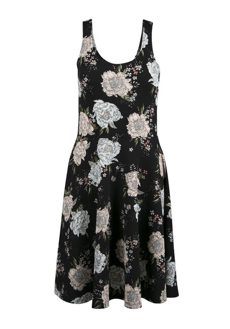 Ladies' Floral Fit & Flare Dress