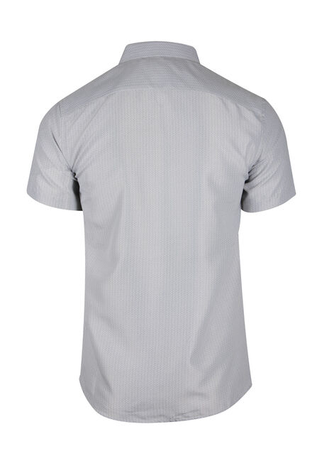 Men's Printed Shirt, GREY, hi-res