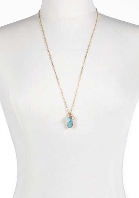 Ladies' Turquoise Charm Necklace