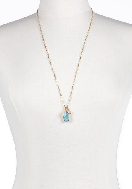 Ladies' Turquoise Charm Necklace
