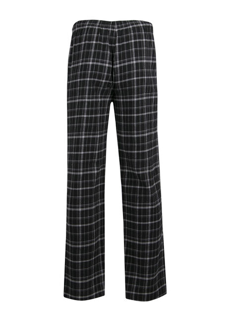 Men's Plaid Lounge Pant, BLACK/GREY, hi-res