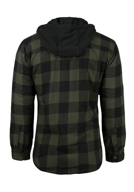Men's Plaid Jacket, DARK OLIVE, hi-res