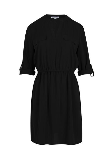 Ladies' Roll Sleeve Shirt Dress