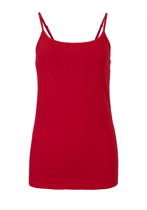 Ladies' Adjustable Strap Tank, CRIMSON RED, hi-res